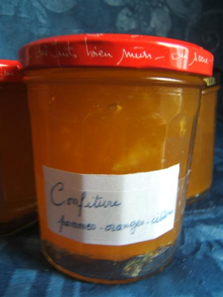 Confiture orange-pommes-citrons