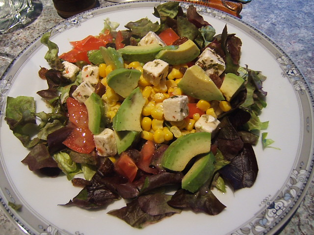 Recette - Salade feta-raisins - La cuisine de Martine