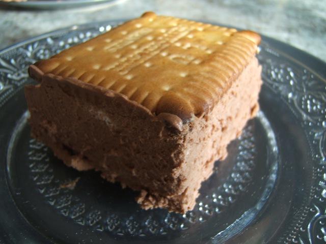 petit beurre fourrés mousse chocolat-menthe